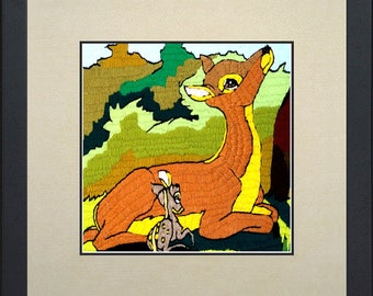Silk painting Bambi