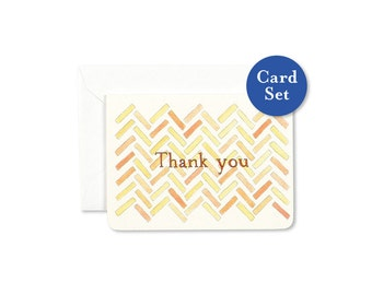 Herringbone Thank You Mini Card Set of 8
