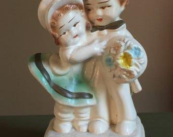 Vintage Chalkware Couple, Vintage Chalkware, Vintage Plaster Couple, Embracing Couple, Wedding Couple