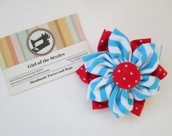 Double Flower Fabric brooch
