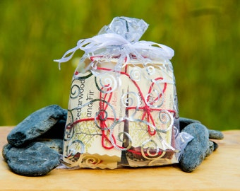 HANDMADE 5 SOAP SAMPLER - 100% natural Gift Set, Organic, Cold Processed Soap with Essential Oils