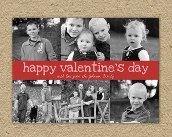 Valentine's Day Card - family photo collage