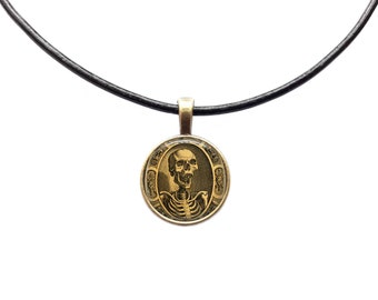 Occult necklace Anatomy pendant Skeleton jewelry Skull charm