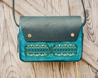 Sea Green Wooden Bag - Wood Bag - Women Bag - Woman Bag - Birthday gift - Ladies bag - Ethnic Bag - Messenger Bag- Women Handbag - Woman bag