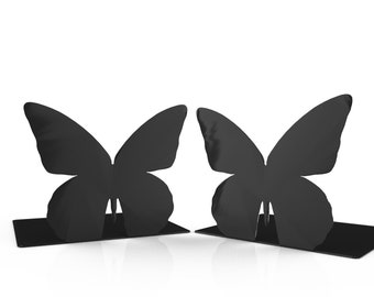 Butterfly Bookends - Metal Bookends - Unique Gift - Metal Art - Custom