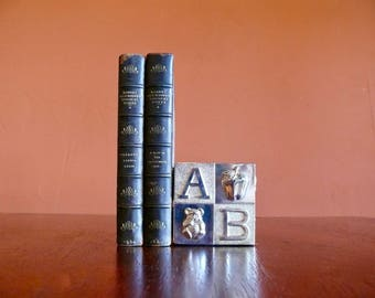 Silver Metal ABC Block Bank, Alphabet Block Bank, Silver Plated Childs Coin Bank, Vintage Baby Gift, Retro Children's Room Nursery Decor