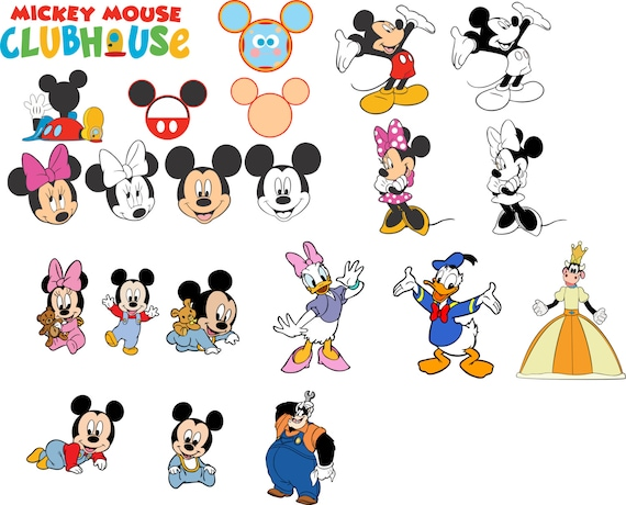Mickey Mouse Clubhouse Svg For Cricut From