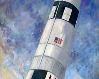 Saturn V Rocket, Apollo 11, NASA, Space, Mars, Moon, Aerospace, Man Cave, Star Wars, Star Trek, Gravity, Lunar, Planets, American Flag, USA