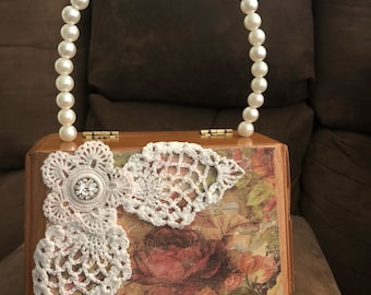 Small CIGAR BOX PURSE cute and one of a kind