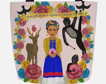 Light Pink Frida Inspired (Everyday Use) Tote Bag