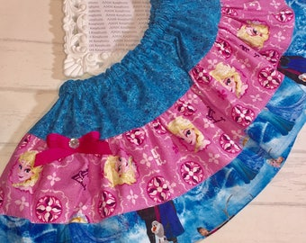SAMPLE SALE  Disney Frozen Anna and Elsa Girls Skirt
