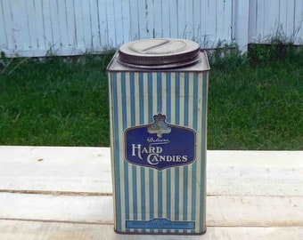Vintage Delcara Hard Candies Tin, The Rochester Candy Works, Rochester N Y,Collectible,1940s,Kitchen Decor