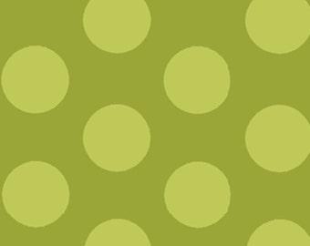 Fat Quarter Mischief  - Cookie Dots in Green - Little Boy Fabric Line Designed by Nancy Halvorsen for Benartex (W879)
