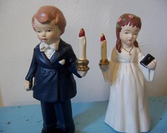choir boy and girl figirines