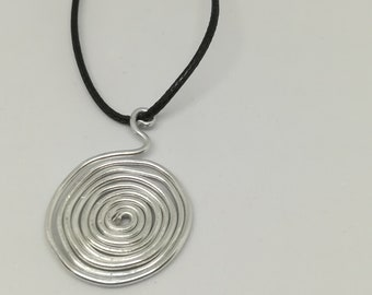 Celtic trendy leather necklace