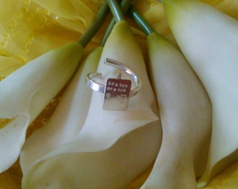 Sterling silver police box ring