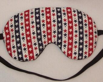 Handmade Stars And Stripes Cotton Sleep Eye Mask Blindfold Blackout Migraine