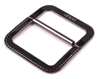 Boucle de ceinture argent stylisée