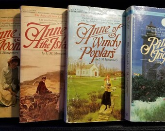 4 Vintage Anne of Green Gables books by L.M. Montgomery