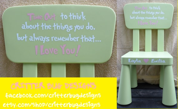 Genial DIY Personalized Decal For A Toddler Time Out Chair Decal For