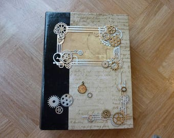 steampunk gears and clock book box