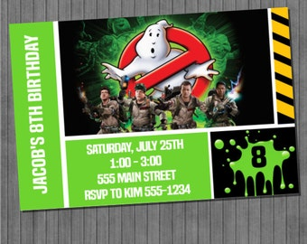 FLASH SALE 60% Off Ghostbusters Invitations