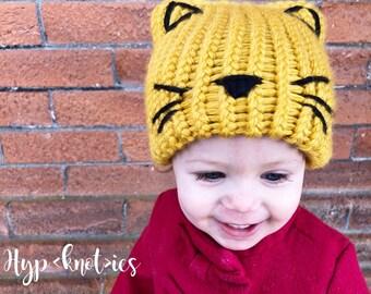Cat Hat, cat hat, cat beanie, kitty hat, kitty beanie, ears, clothing, kids, crochet, knitted, animal hat, cat ears, hat
