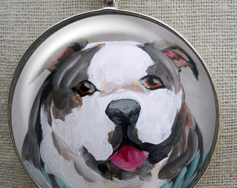 English Bulldog Keychain ~ Bullie Owner Gift ~ Boyfriend Gift ~ Bulldog Portrait ~ Fathers Day Gift ~ Gifts for Him