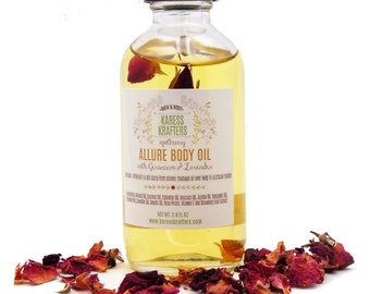 Allure Body Oil, Massage Oil, Bath Oil, All Natural, Aromatherapy Oil