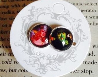The Wizard of Oz Wicked Witch and Glinda Stud Earrings