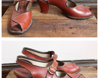 1940s Heels // Glamour Leather Shoes // vintage 40s shoes