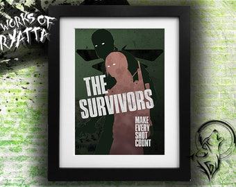The Survivor; The Survivors; The Last of Us Joel Ellie Print