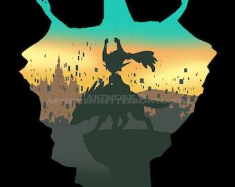 "Legend of Zelda Twilight Princess ""Twilight Midna"" Fan Art Prints and Posters"