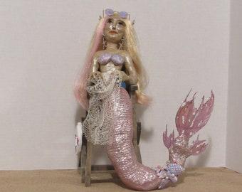 "OOAK Art Doll, ""Molly"" the Mer-Guard, Handmade by Sherry Harrison"