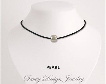 Stretch adjustable pearl choker perfect for any occasion! Made in the USA!