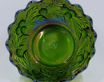 Northwood Green Acorn Burrs Berry bowl - 4-1/2""