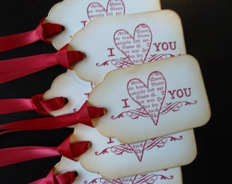I Heart You Gift Tags