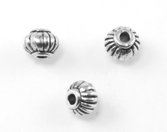 Antique Silver Pewter Beads - Lead Safe Pewter Bead - Bead Findings - 4x5mm - PWT103S - adorabellabeads