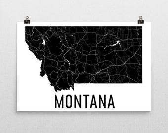 Montana Art, Montana Gifts, Montana Map, Montana Print, Montana Wall Art, Montana Sign, Montana Decor, Montana Poster, Map of Montana, Home