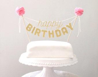 Cake Toppers Birthday Cake Topper, Birthday Decorations, Kids Birthday Cake, Birthday Party Decor, Cake Banner, Cake Bunting, Mini Banner,