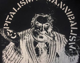 T-shirt Anthrax Capitalism Is Cannibalism Punk Anarcho