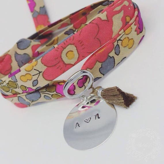 Pretty bracelet GriGri XL Liberty with personalized engraving & tassel by Palilo