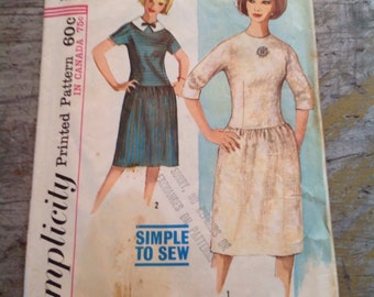 Vintage Simplicity Sewing Pattern 5579 Teen's Size 14 Dress
