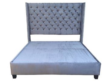 tufted bed velvet king queen full twin daybed all sizes. Black Bedroom Furniture Sets. Home Design Ideas
