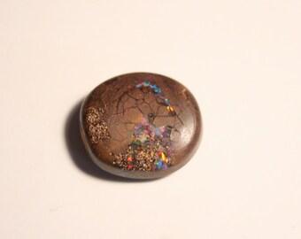 9.4ct Boulder Opal Cabochon - Rainbow Confetti - Winton Australia - See Video