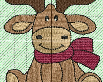 Christmas Moose machine embroidery file