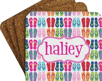 FlipFlop Coaster Set (Personalized)