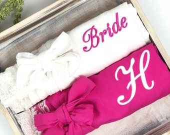 Set of 5 Cotton Lace Robes, Bridesmaid Robes, Bridesmaid Gifts, Bridal Robes, Wedding Gifts, Getting Ready Robes, Bridal Party Robes, Custom