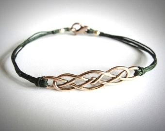 Rose Gold Celtic Knot bracelet, Bronze Irish Celtic Knot, Celtic jewelry, Outlander Bracelet, gift for woman, gift for her, St Patricks gift