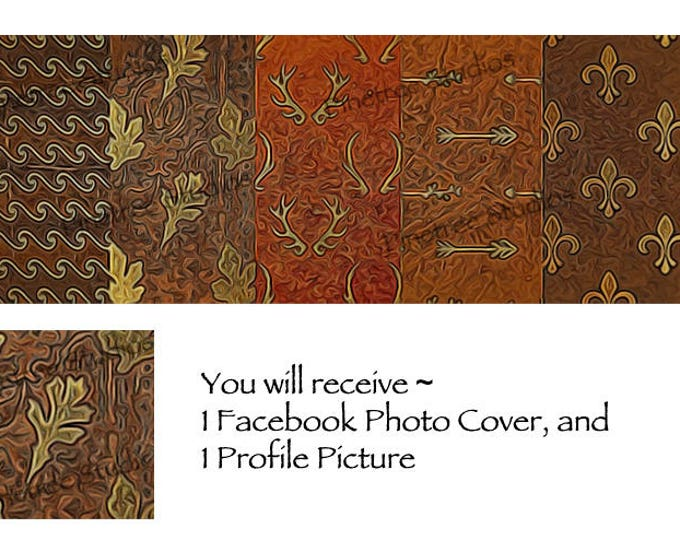 Autumn Leather ~ Facebook Blank Cover Photo and Profile Picture